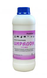 Цирадон 11% ВКЭ средство от тараканов, блох, мух, клопов постельных, комаров, крысиных клещей, 1 литр.