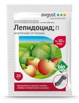 Лепидоцид - биопрепарат для борьбы с гусеницами на овощных, ягодных, плодовых и декоративных культурах, 20 г.