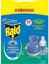 RAID фумигатор с регулятором интенсивности и таймером+жидкость 30 ночей Эвкалипт.