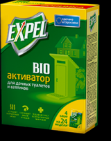 Биоактиватор Expel для дачных туалетов и септиков, 4 саше в уп.