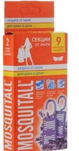 Mosquitall Секции от моли «Защита от моли. Для  дома идачи» сароматом лаванды, 2 шт (москитолл)