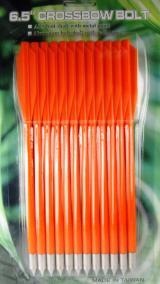 Стрелы для арбалета оранжевые (пластик, 12 шт)