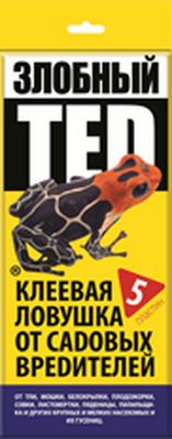 Клеевая ловушка ЗЛОБНЫЙ ТЕД от садовых вредителей (5 пластин)