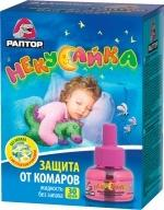 РАПТОР НЕКУСАЙКА Жидкость от комаров 30 ночей для детей.
