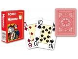 """Карты для покера """"Modiano Poker"""" 100% пластик, Италия, красная рубашка"""