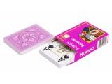"""Карты для покера """"Modiano Poker"""" 100% пластик, Италия, фиолетовая рубашка"""