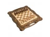 Шахматы + нарды резные c Араратом 50 с ручкой, Haleyan
