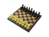 """Шахматы + Шашки """"Айвенго"""" с деревянной черной доской, рисунок золото"""