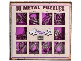Набор из 10 металлических головоломок (фиолетовый) / 10 Metal Puzzles purple set