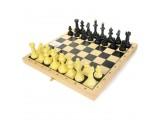 """Шахматы """"Айвенго"""" обиходные (пластик) с деревянной шахматной доской, высота короля 71 мм"""