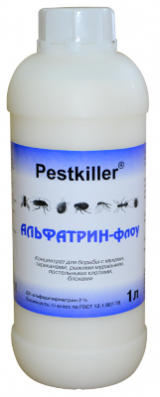 Альфатрин-Флоу инсектицидное средство от тараканов, муравьев, клопов, мух, блох, 1 литр.