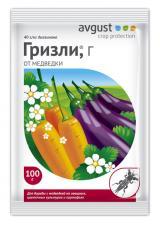 Гризли - препарат-приманка для защиты картофеля, овощных, цветочных и других культур от МЕДВЕДКИ, 100 гр.