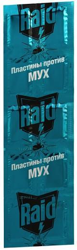 Пластины Raid против мух для электрофумигаторов, 10 шт.