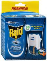 RAID фумигатор с регулятором интенсивности+жидкость 30 ночей.