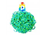 Комплект дополнительных резиночек №4 (цвет салатово-голубой, 300 шт.)