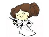 """Пробивной мини 3D светильник """"StarWars"""" (Звёздные Войны)-Leia Organa (Лея Органа-Соло)"""