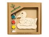 """Развивающая игрушка """"Утка и утята"""" с красками"""