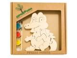 """Развивающая игрушка """"Крокодильчик"""" с красками"""