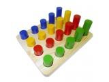 """Развивающая игрушка """"Цилиндры"""", 4 ряда"""