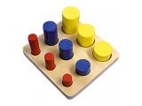 """Развивающая игрушка """"Цилиндры"""", 3 ряда"""