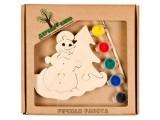 """Развивающая игрушка """"Снеговичок и елка"""" с красками"""