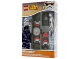 """Часы наручные аналоговые """"Lego. Star Wars"""" с минифигурой Дарт Вейдер"""