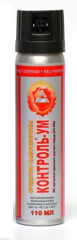 Средство защиты от агрессивных животных (газовый баллончик) Контроль-УМ, 110 мл., струйно-аэрозольный.