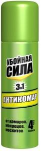 Убойная сила Антикомар аэрозоль, 150 см3.