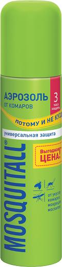 Москитол аэрозоль от комаров Универсальная защита, 150 мл.