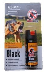 Баллончик аэрозольный AntiDog Black для защиты от агрессивных животных, 65мл.