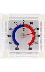 Термометр оконный биметаллический квадратный ТББ