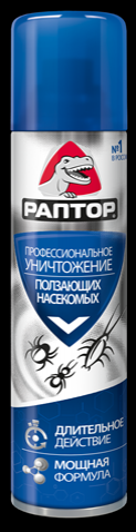 РАПТОР Аэрозоль от ползающих насекомых, 350 мл