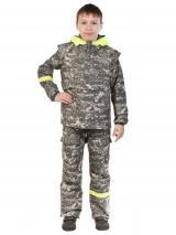 Детский противоэнцефалитный костюм Биостоп 6-12 лет, зеленый камуфляж