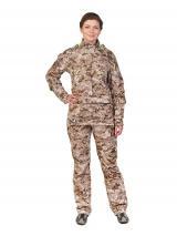 Женский противоэнцефалитный костюм Биостоп® - Премиум, цвет - песочный камуфляж