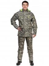 Мужской противоэнцефалитный костюм Биостоп ® - Премиум, цвет - зеленый камуфляж